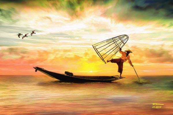 Michael-Williams_Burmese-Fisherman-Ending-His-Day