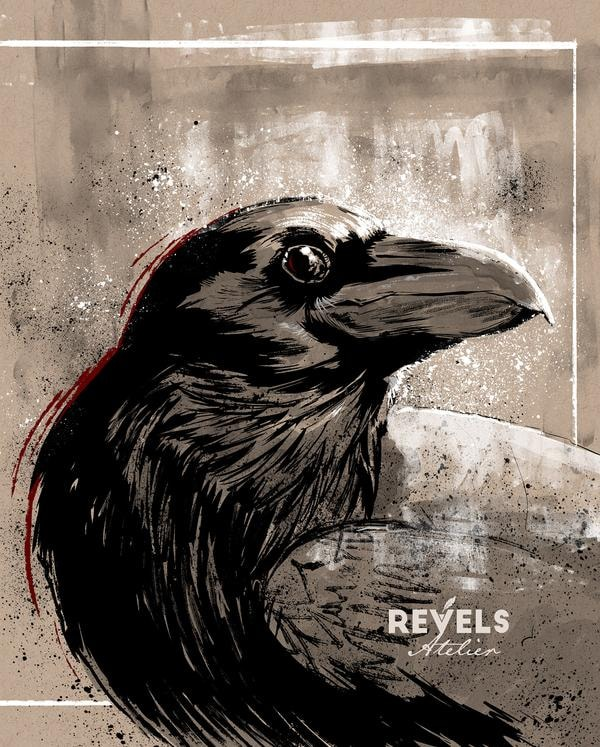 Robert-Revels_Crow-inkwash_Robert-Revels-1024x1275